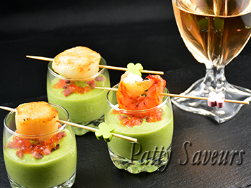 Appetizing Green Peas Dip and Scallops small