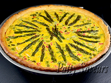Asparagus and Bell Pepper Quiche small