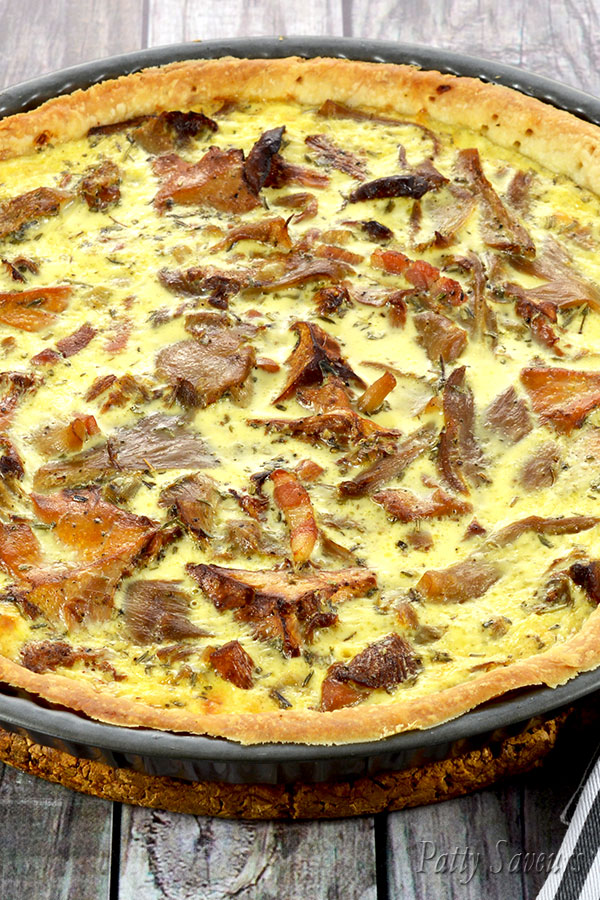 Chanterelle and Oyster Mushroom Quiche Pinterest