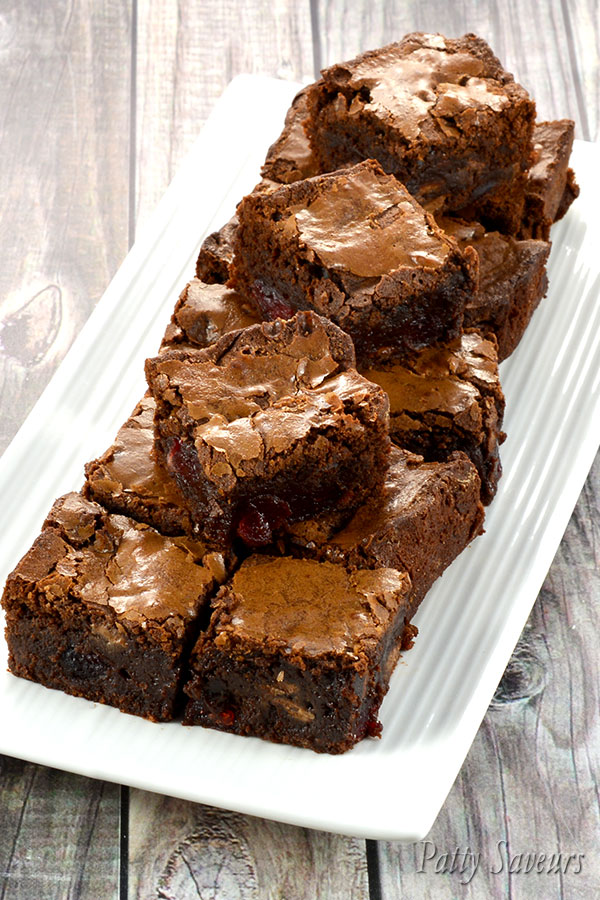 Fudgy Cherry Brownies Pinterest
