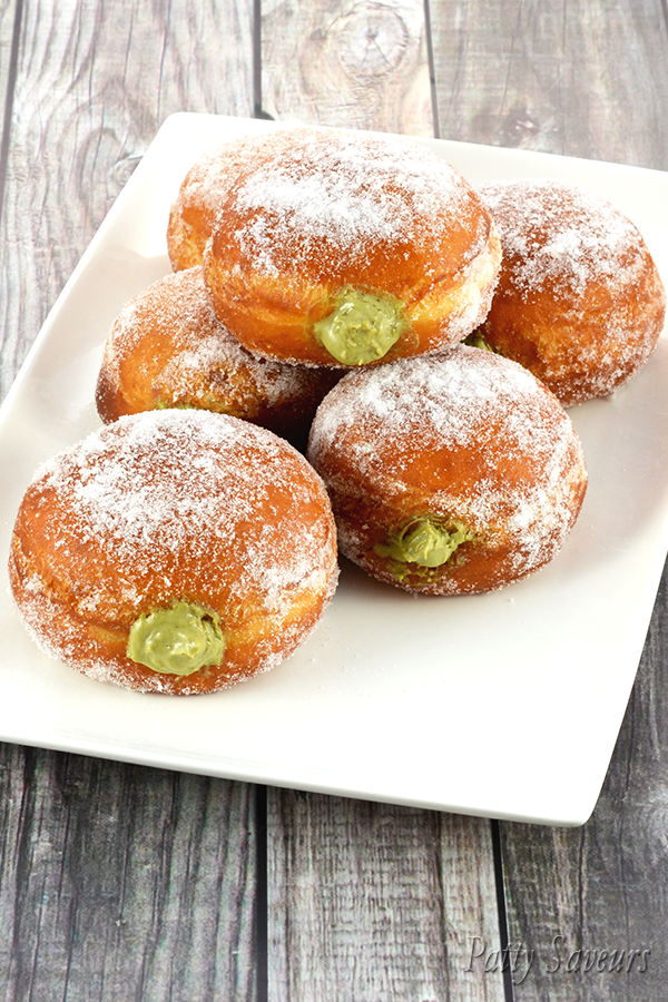 Matcha Cream Filled Donuts