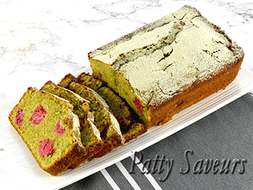 Matcha Raspberry Bread