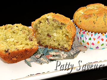 Matcha Tea Pecans White Chocolat smalle Muffins