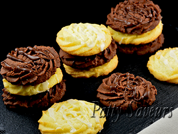 Melting Moments Lemon and Chocolate Cookies small