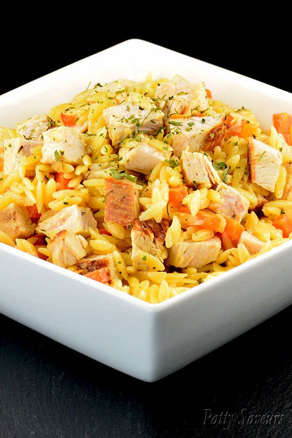 Orzo and Turkey Stir Fry Pinterest