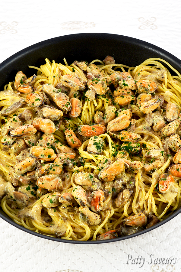 Pasta and Mussels Creamy Wine Sauce Pinterest