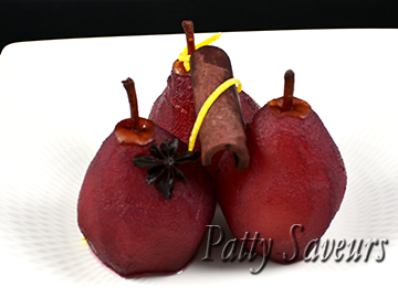 Pears in Sweet and Spicy Red Wine
