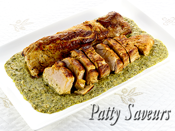 Pork Tenderloin Creamy Herb Sauce small