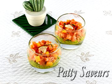 Salmon and Salsa Appetizers Cups small