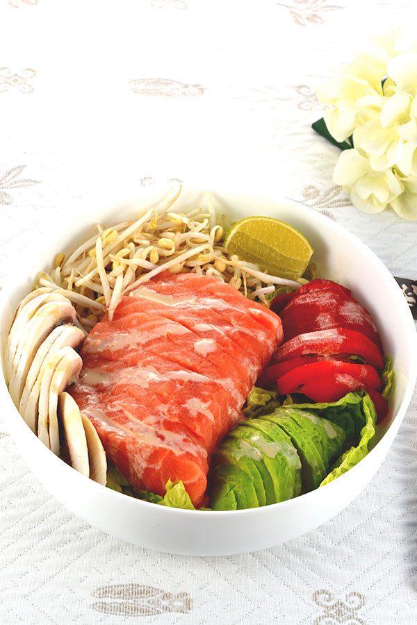 Salmon Sashimi Salad Bowl Pinterest