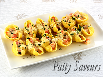 Shrimp Newberg Stuffed Shells small