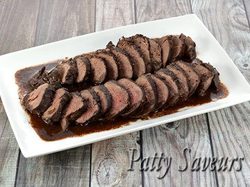 Wild Boar Tenderloin Port Sauce